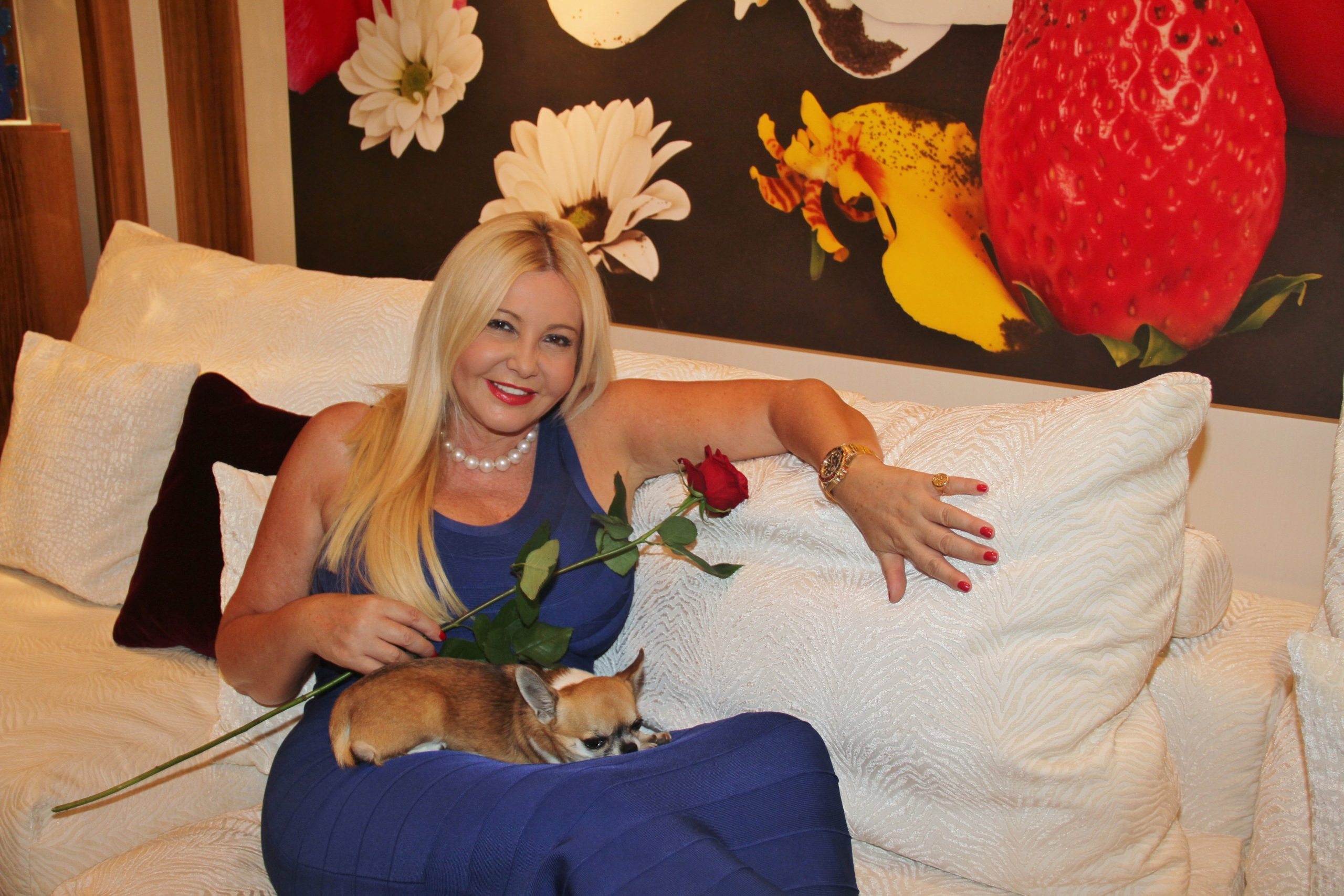 Monika Bacardi received us at her home in Monte Carlo