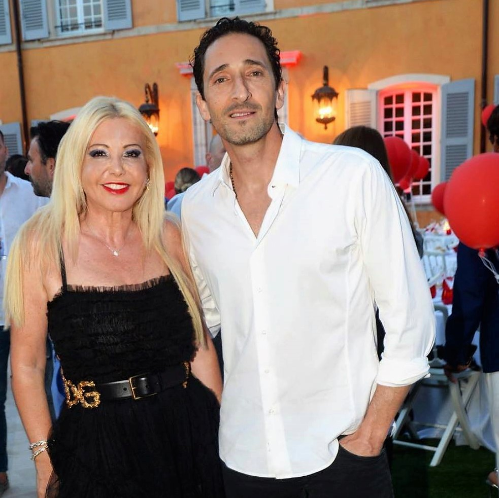 Adrien Brody and Lady Monika