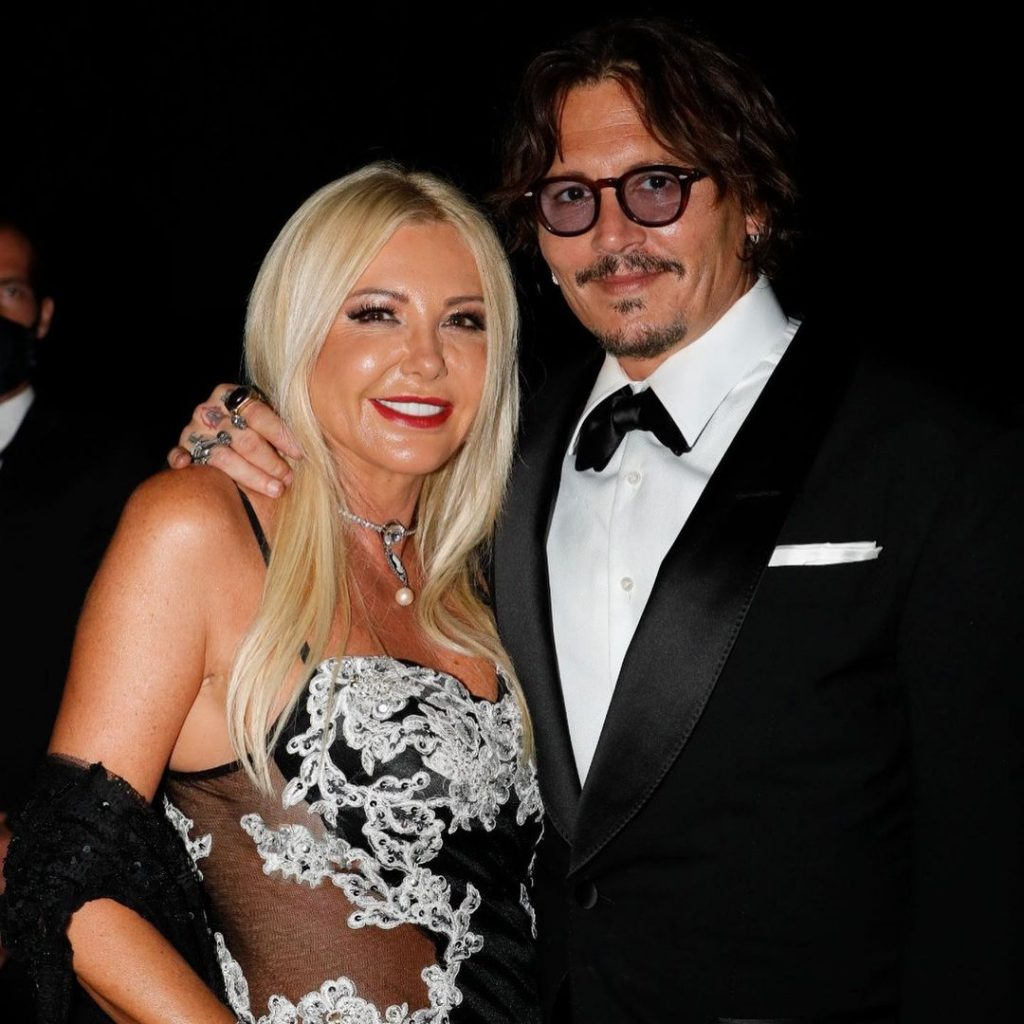Lady Monika Bacardi with Johnny Depp, supporter of Monte Carlo Ocean Gala