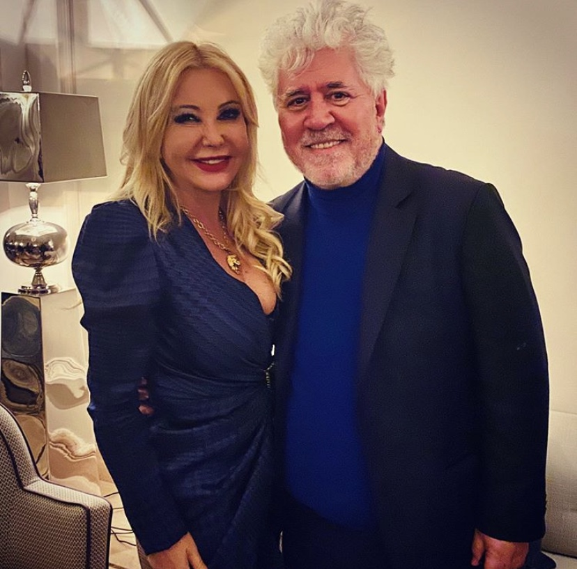 Monika Bacardi attends the inauguration of the Soho theatre in Málaga with Pedro Almodóvar