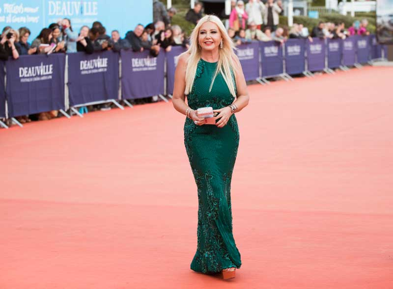 Lady Monika Bacardi on red carpet